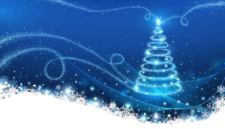 Magic Christmas Tree Stock Vector - 16640770