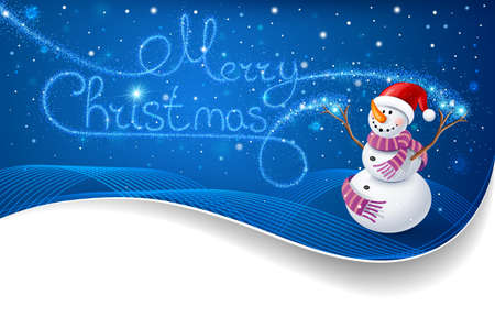 Snowman with Christmas text Stock Vector - 16640772