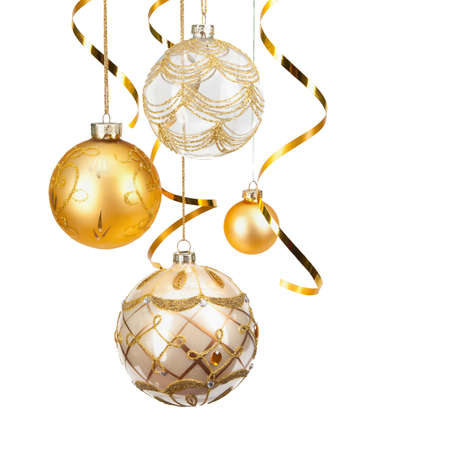 Christmas golden balls