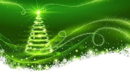 Magic Christmas tree Christmas background Illustration