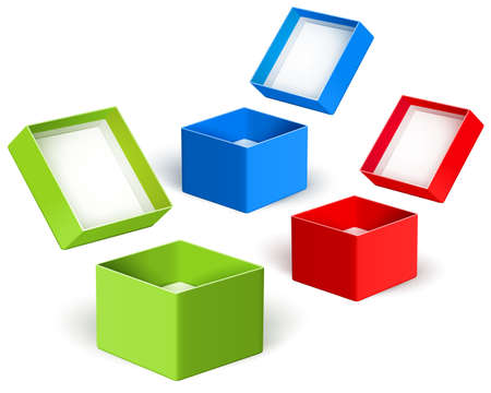 Open color boxes. Vector Stock Vector - 17438545
