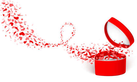 surprise box: Gift box with hearts