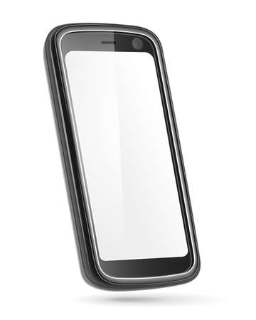 Mobile phone isolated on white  Vector