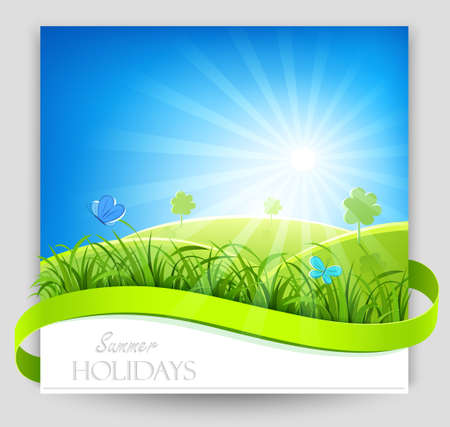 Summer holiday banner. Vector Vector