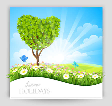 Summer banner  Vector Stock Vector - 18517365