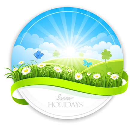 Summer banner Vector Illustration