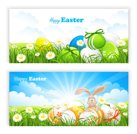 Easter banners Stock Vector - 18654691