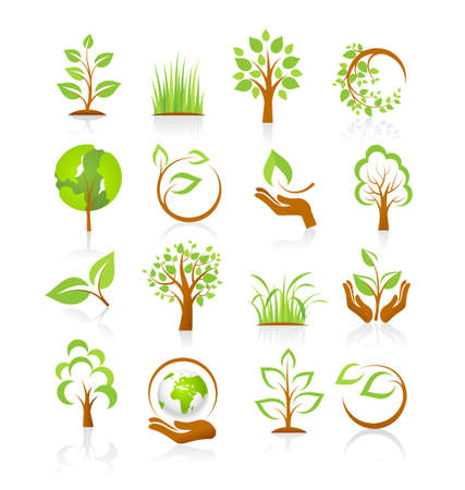 Set of nature icons Stock Vector - 18654675