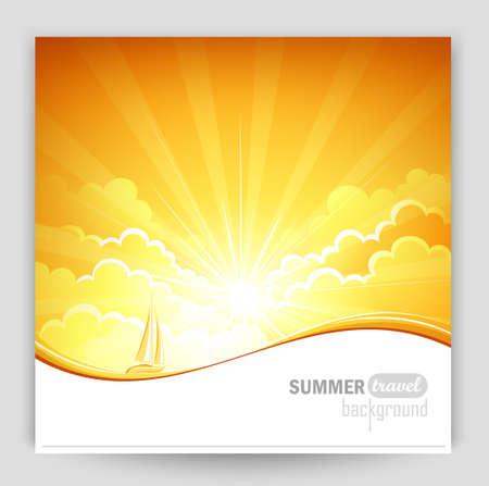 summer background: Sunny background
