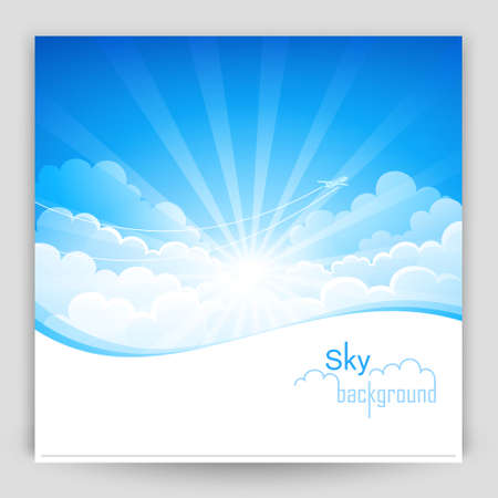 Sky background Stock Vector - 18813712