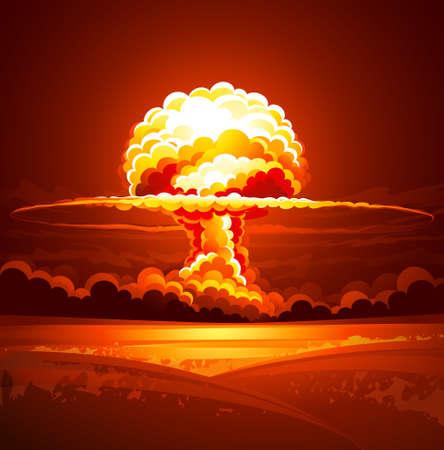 Explosión nuclear Ilustración de vector