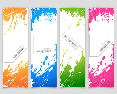 spray paint: Set of banners with spray paint Illustration