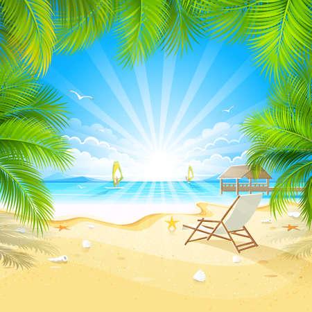 Entspannen Sie sich auf einer tropischen Insel Illustration