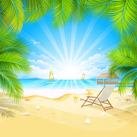 Relax on a tropical island Stock Vector - 19377192