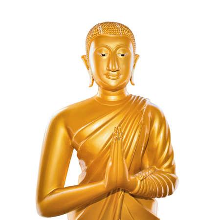 venerable: Buddha statue isolated on white