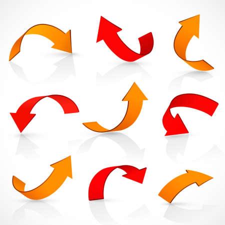 Rot und orange Pfeile