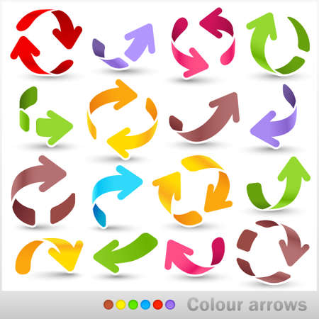 indexes: Collection of colour arrows Illustration