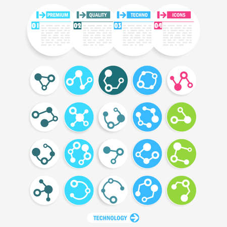 Set of abstract technology icons