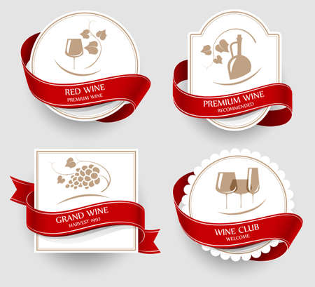 grapes wine: Wine emblems