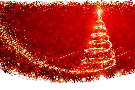 christmas decorations with white background: Christmas Tree Illustration