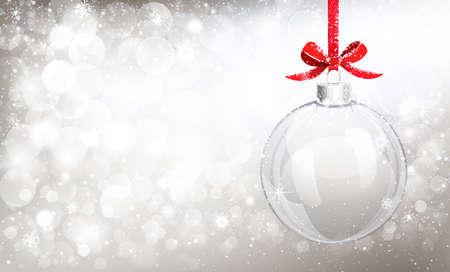 christmas snow: Christmas glass ball Illustration