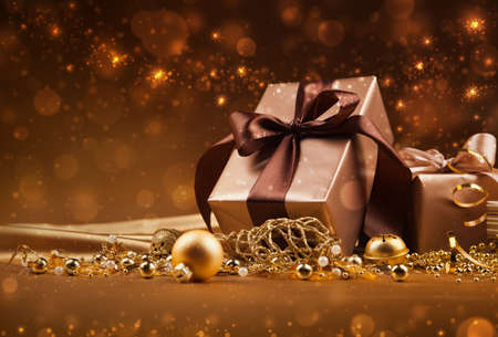 Christmas gifts and decorations Stock Photo - 22348371