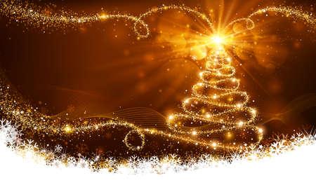 textury na pozadí: Kouzelná vánoční strom Ilustrace