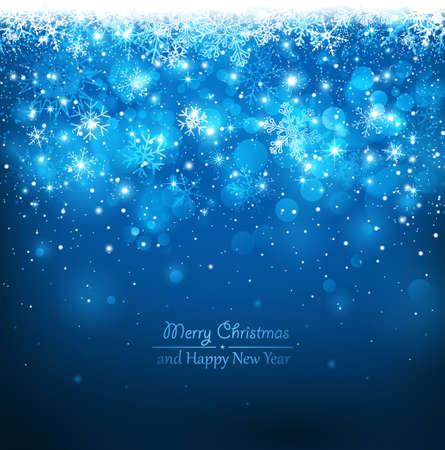 Kerst blauwe achtergrond Stock Illustratie