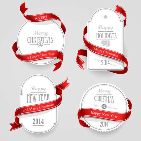 menu background: Christmas emblems Illustration