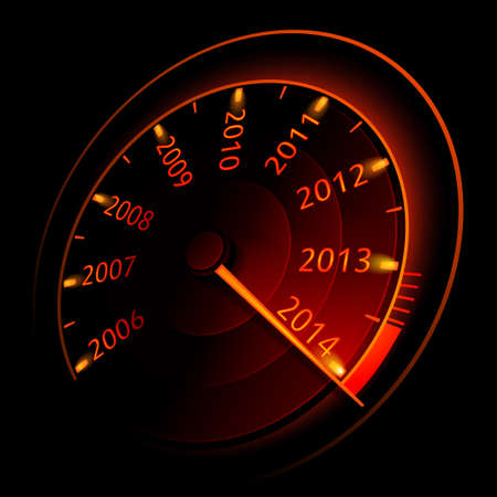 Speedometer 2014  Vector illustration Vector