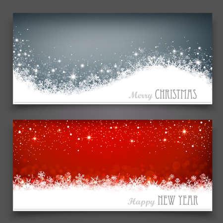 christmas magic: Christmas banners Illustration