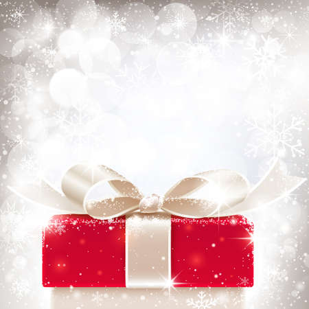 christmas gifts: Christmas background with gift Illustration