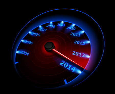 speedmeter: Speedometer 2014  Vector Illustration