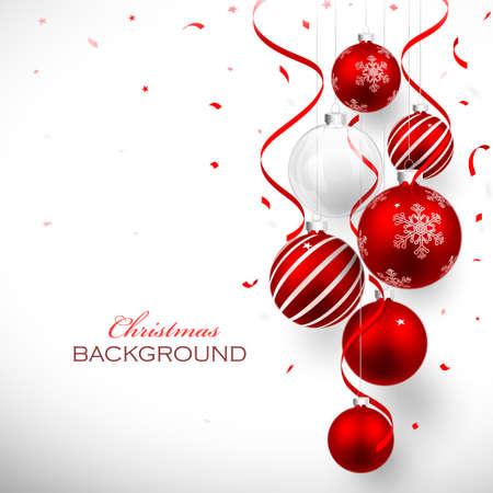 vermelho: Bolas de Natal