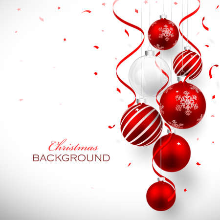 christmas holiday background: Christmas balls