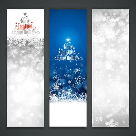 christmas banner: Collection of Christmas banners