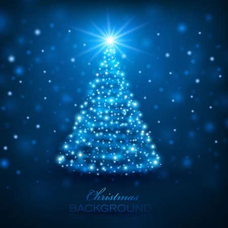 Fond Magic Tree Noël Banque d'images - 24232623