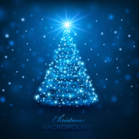 Magic Christmas Tree Christmas Hintergrund Illustration