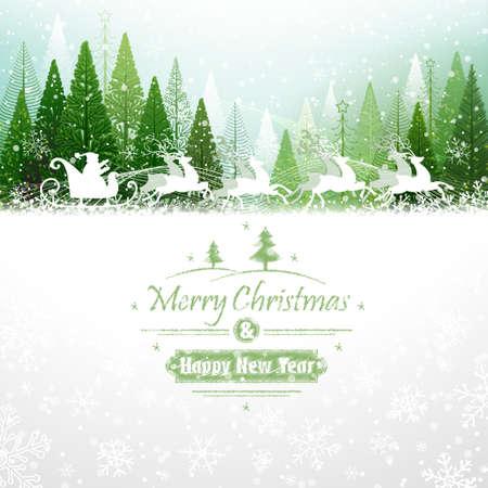Papá Noel con los renos Foto de archivo - 24527675
