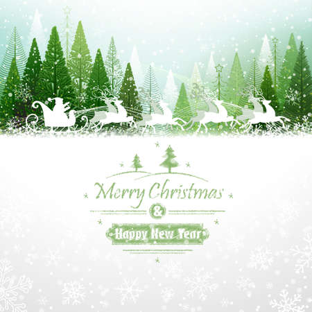 Santa Claus with reindeer Vector
