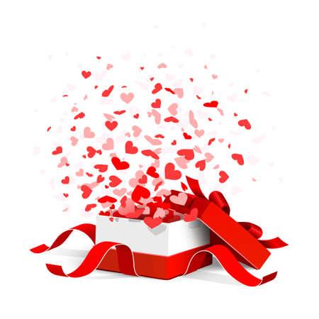 Gift box met hartjes