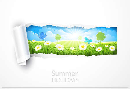 Natural background with flowers Vector