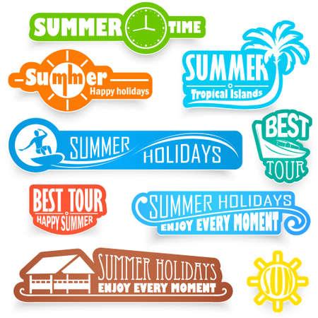 étiquettes d'été