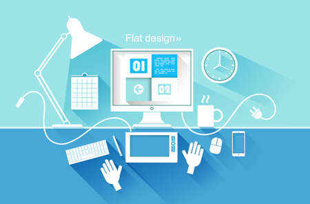 Flat design of modern devices  vector illustration Stock Vector - 28914372