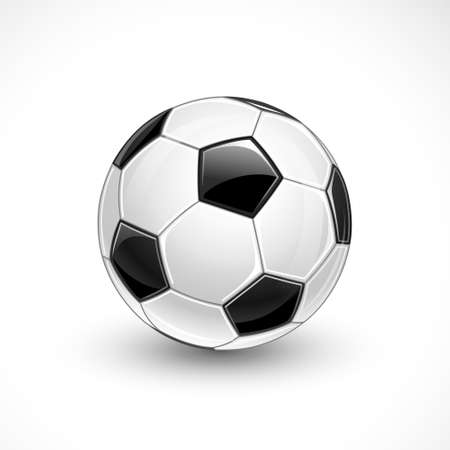 Soccer ball isolated on white background  Vector Vector