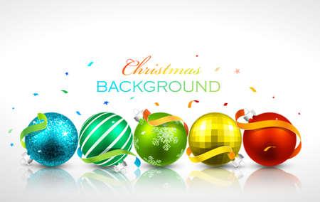 Christmas balls with reflection