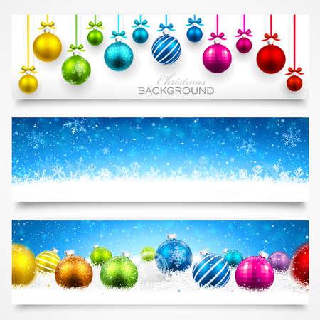Collection de bannières de Noël