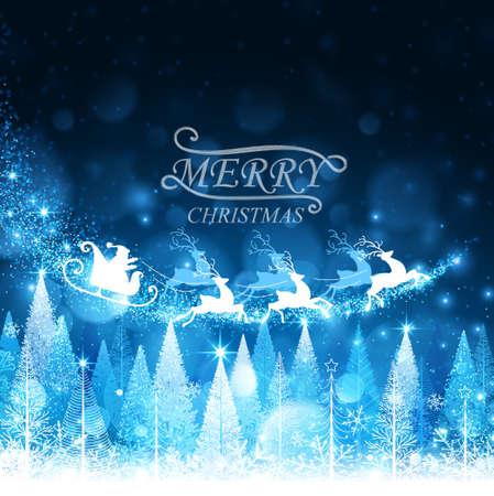 papa noel trineo: Fondo de Navidad