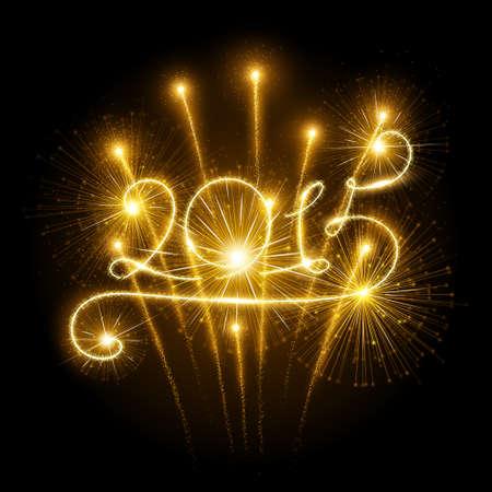 New Year 2015 fireworks Illustration
