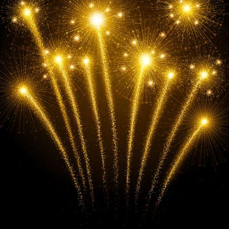ünneplés: Nyaralás tűzijáték Illusztráció